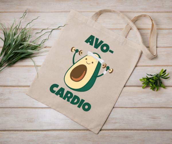 """Памучна еко чанта """"Avo cardio"""""""
