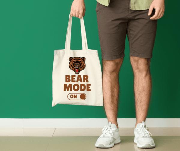 """Памучна еко чанта """"Bear mode on"""""""
