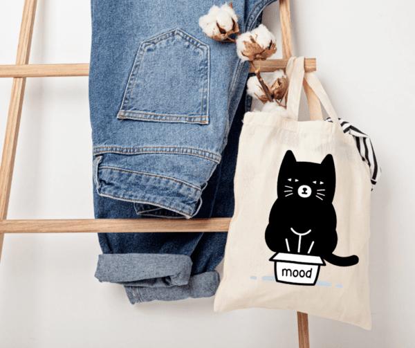 """Памучна еко чанта """"Mood"""""""