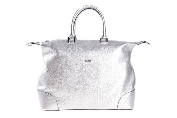 Дамска чанта UGGARI Milano с две къси дръжки в сребристо