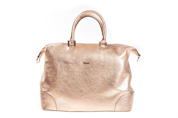 Дамска чанта UGGARI Milano с две къси дръжки в цвят розово злато