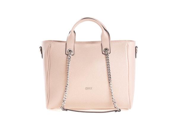 Дамска чанта UGGARI Milano с две къси и две дълги дръжки в цвят пудра