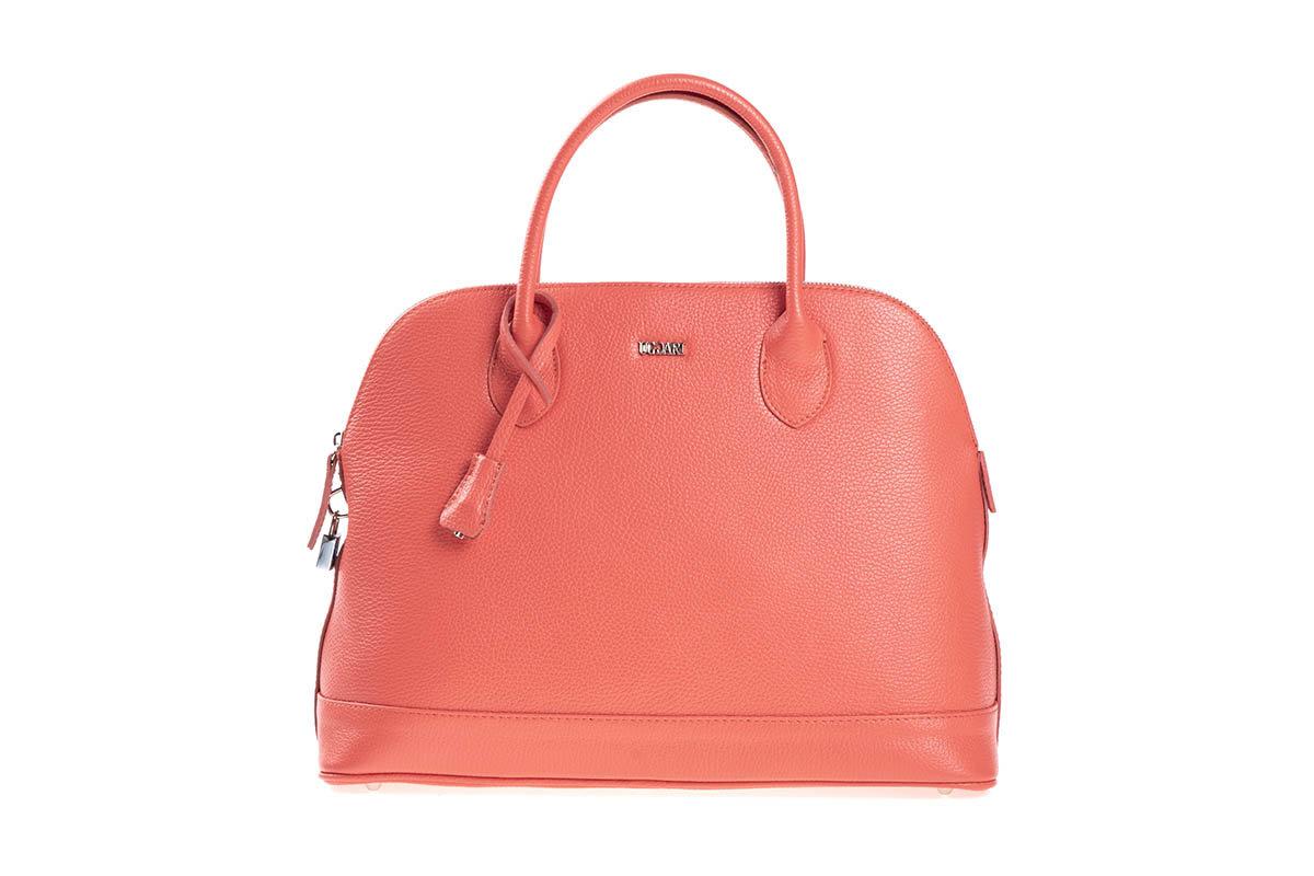 Дамска чанта UGGARI Milano в цвят корал