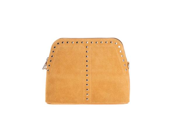 Дамска  чанта от естествен велур в оранжево