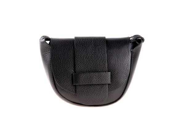 Малка дамска чанта от естествена кожа в черно