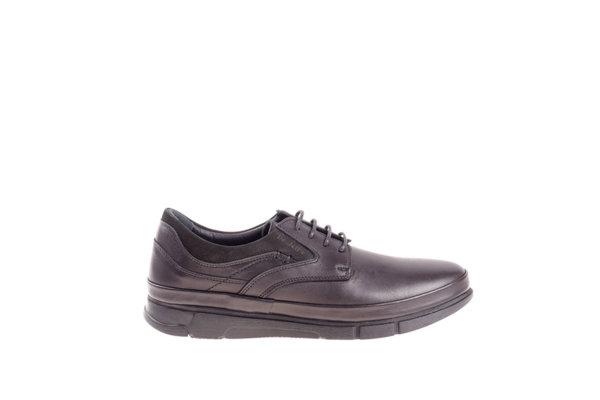 Мъжки ежедневни обувки Aquamarine с връзки в черно