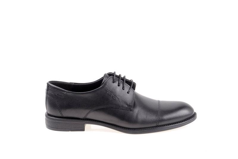 Мъжки елегантни обувки Aquamarine с връзки в черно