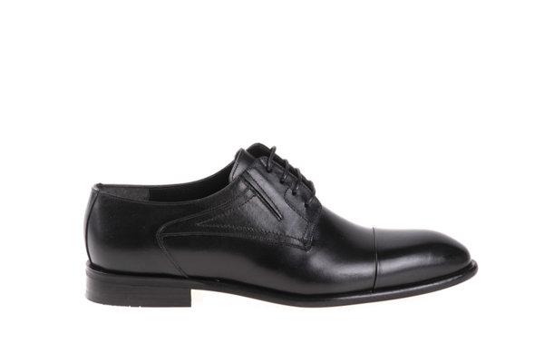 Мъжки елегантни обувки Aquamarine от естествена кожа в черно