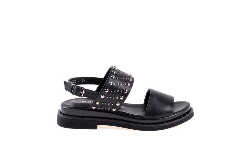 Дамски сандали Aquamarine в черно с метални капси