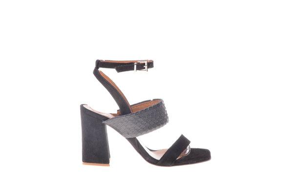 Дамски сандали Aquamarine на висок ток в черно