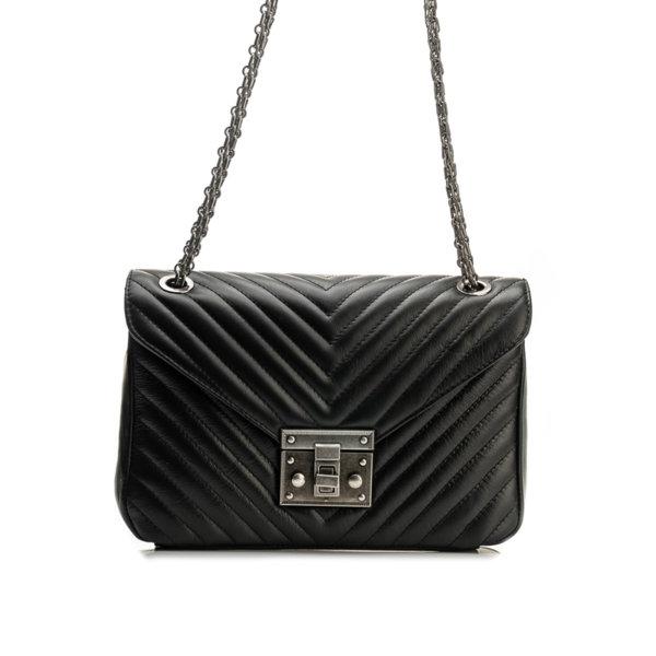 Дамска чанта от естествена кожа 9W-556108-1
