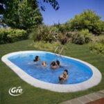 Madagascar Комплект вкопан басейн овал 800x400x132 см-Copy
