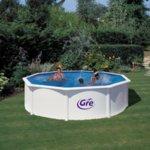 FIDJI Бял сглобяем басейн кръг 460x120 см с пясъчен филтър
