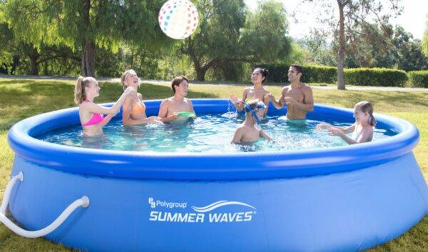 Басейн Summer Waves Quick Set 366x91 см. с надувем борд с филтър и стълба