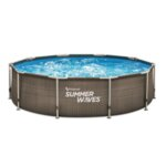 Басейн Summer Waves Metal Frame РАТАН 4.27х1.07см. с метална рамка и филтрираща помпа