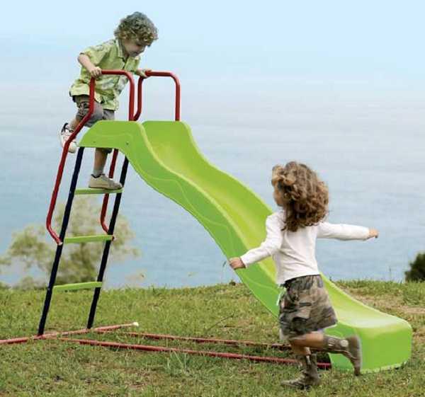 Детска пързалка тръбна метална конструкция 2.00 м