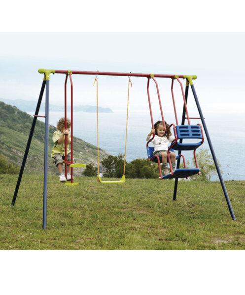 Детска комбинирана люка за градината -  седалка + скутер + гондола