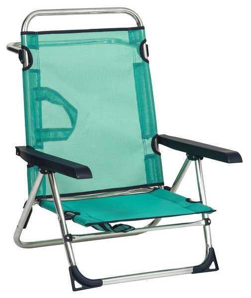 Нисък сгъваем плажен стол с фибрилен