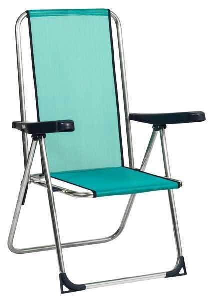 Висок сгъваем плажен стол с фибрилен