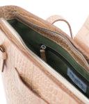 Handbag Croco leather medium