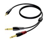 Procab CLА713/3, 3.5mm. Jack M Stereo-2x 6.3mm. Mono M, 3m., позлатени конектори