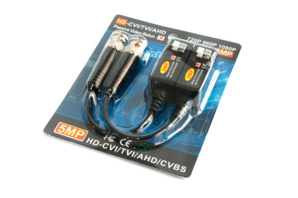 Video Balun / комплект / AHD / TVI / CVI / CVBS / до 5мп SV-VB-5