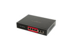 4 port 10/100 POE комутатор + 2 порта up link 10/100, 48v, up to 250m SV-POE04