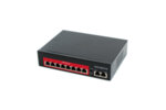 8 port 10/100 POE комутатор + 2 порта up link 10/100, 48v, up to 250m SV-POE08