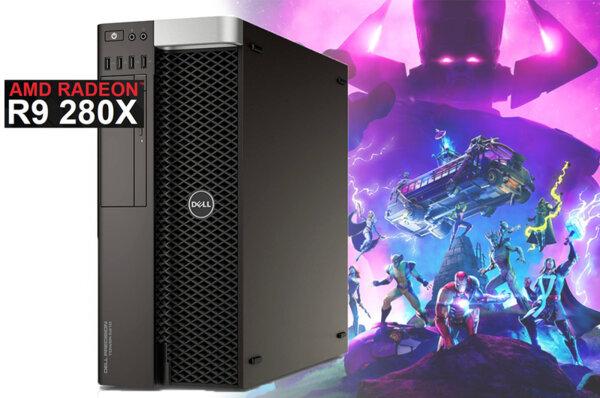 Настолен компютър Dell Precision T5600 със AMD Radeon R9 280 3GB 384bit GDDR5/ E5-2643/ 16GB/ 500GB HDD