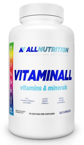 Комплексни Витамини и Минерали Vitaminall AllNutrition 60 капсули
