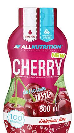 Нискокалоричен Топинг с Вкус на Череша Cherry AllNutrition 500 ml