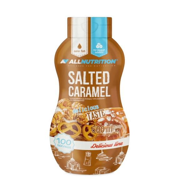 Нискокалоричен Топинг с Вкус на Солен Карамел Salted Caramel AllNutrition 500 ml