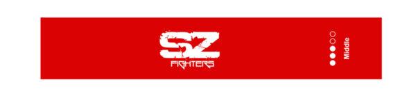 Тренировъчен ластик в кръг Червен 11 - 14кг SZ Fighters 30см