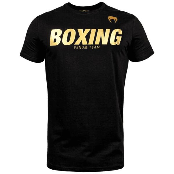 Тениска с Къс Ръкав Boxing VT T-Shirt VENUM Black/Gold