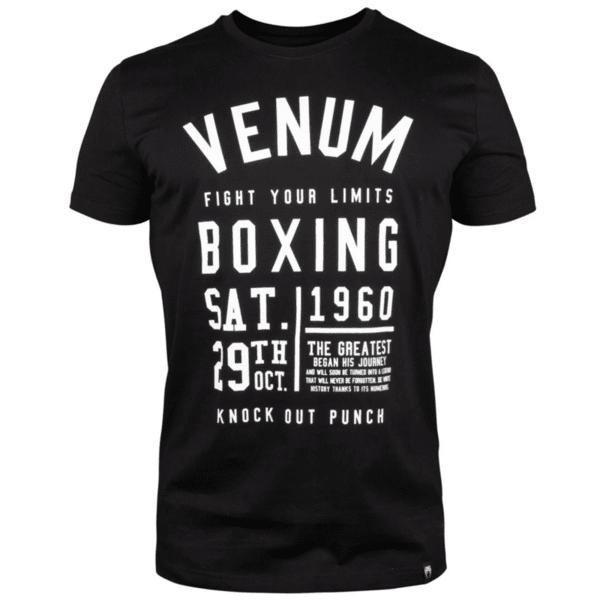 Тениска с Къс Ръкав Knock Out T-Shirt VENUM Black