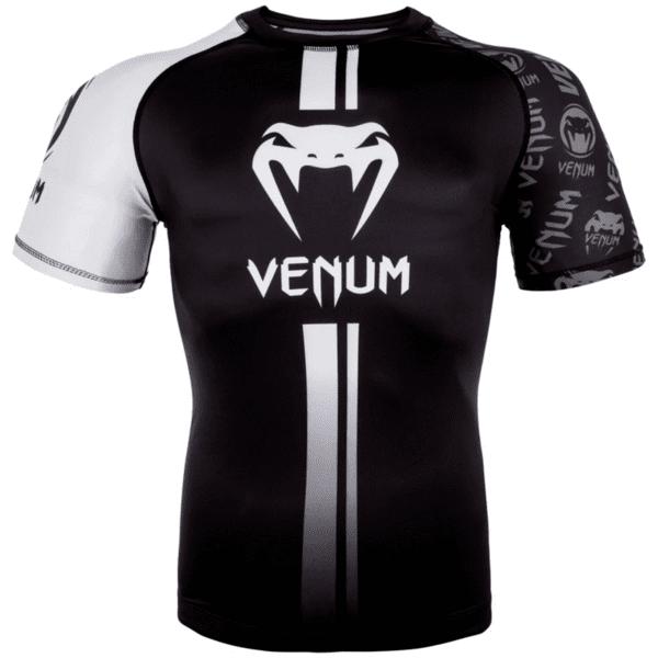 Рашгард с Къси Ръкави Logos Rashguard Short Sleeves VENUM Black/White