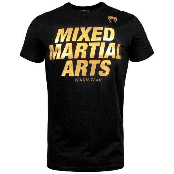 Тениска с Къс Ръкав MMA VT T-Shirt VENUM Black/Gold