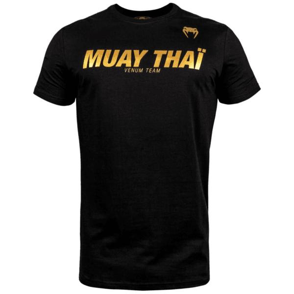 Тениска с Къс Ръкав Muay Thai VT T-Shirt VENUM Black/Gold