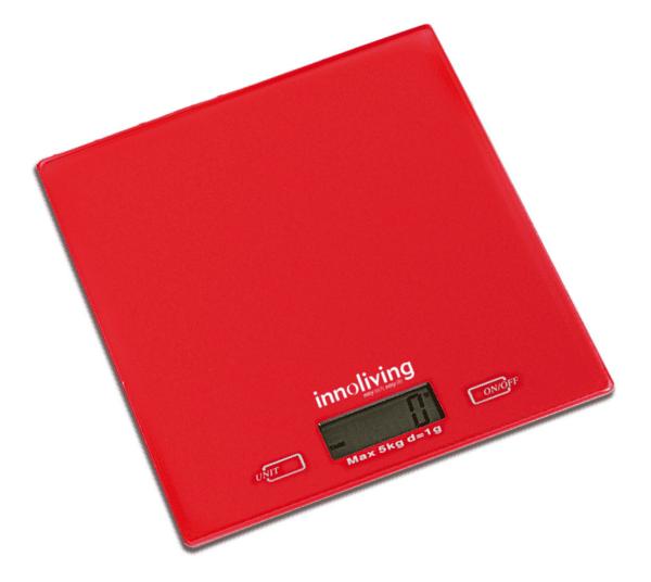 Електронна Кухненска Везна Червена Innoliving