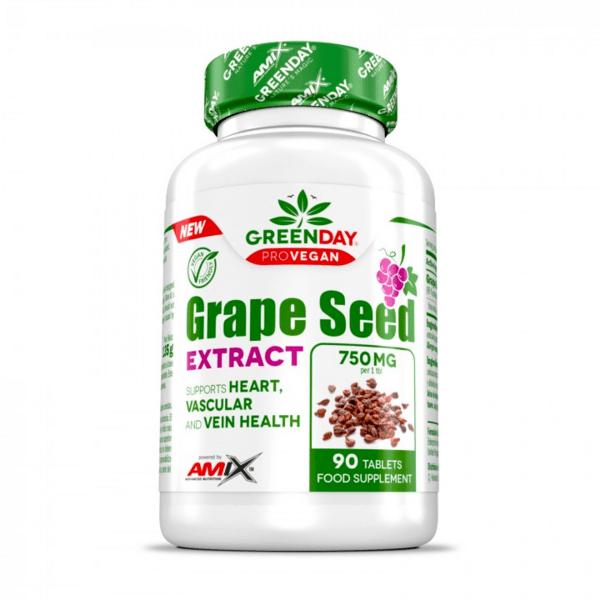Екстракт от Гроздови Семена Grape Seed Extract GreenDay® ProVegan AMIX 90 капсули