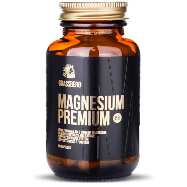 Магнезий с Витамин B6 Magnesium Premium Grassberg 60 капсули