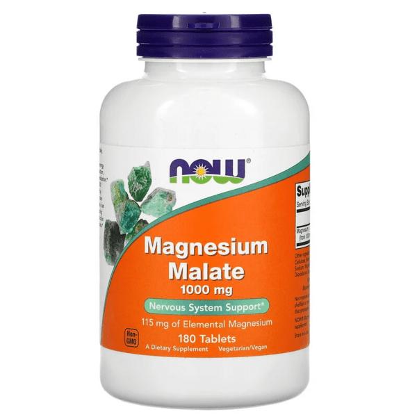 Магнезиев Малат Magnesium Malate 1000 mg NOW Foods 180 таблетки