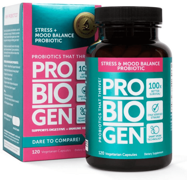 Пробиотик за Намаляване на Стреса Mood Balance Spore Probiotic Probiogen 120 веган капсули
