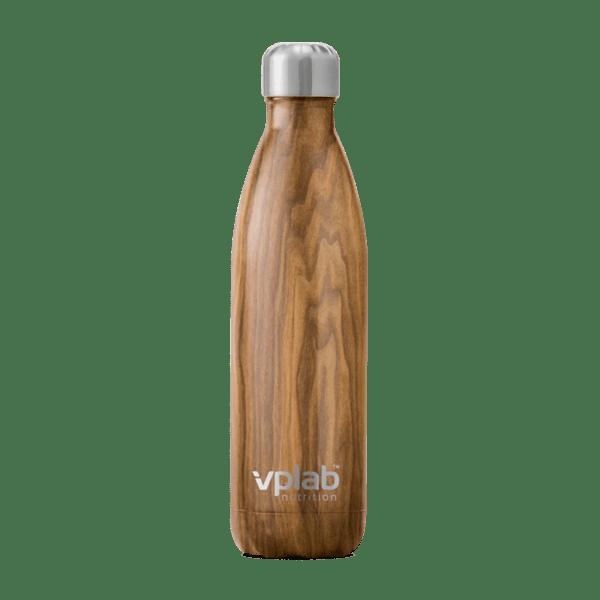 Метална Бутилка за Вода Metal Water Bottle Wood VPlab 500ml