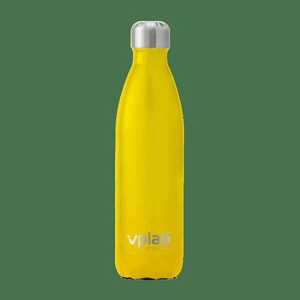 Метална Бутилка за Вода Metal Water Bottle Yellow VPlab 500ml