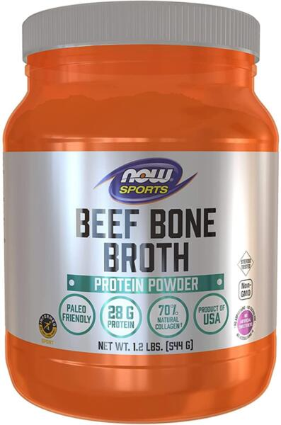 Протеин от Телешки Костен Бульон Beef Bone Broth Protein PowderNOW Sports 544 грама