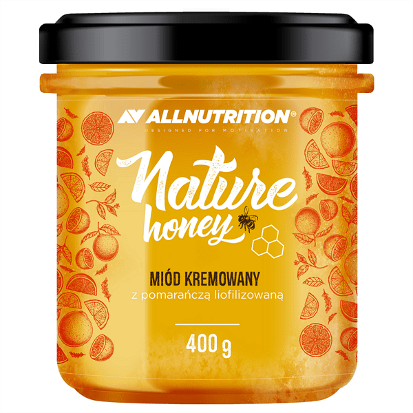 Натурален Мед със Сушен Портокал Nature Honey with Orange AllNutrition 400 грама