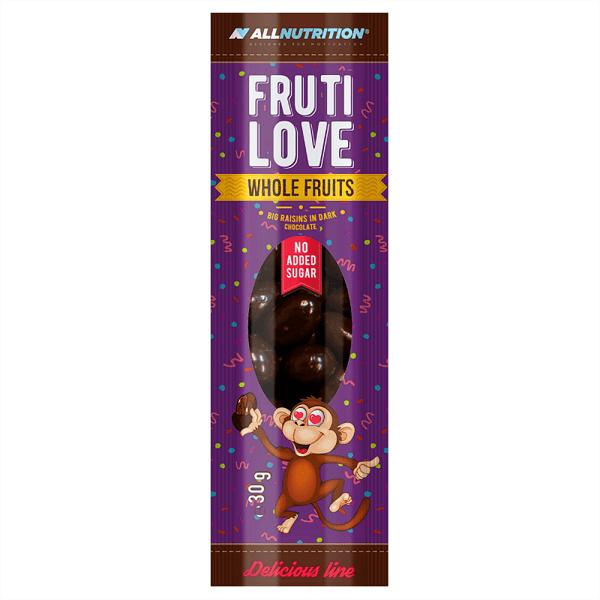 Стафиди Обвити в Черен Шоколад FruitLove Raisins in Dark Chocolate AllNutrition 30 грама