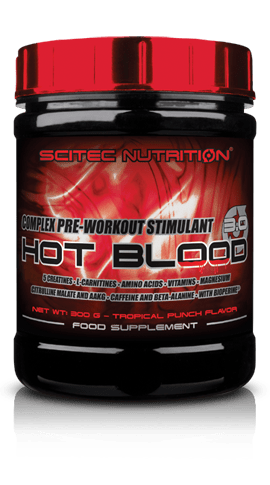 Hot Blood 3.0 Scitec Nutrition 300 грама 15 дози