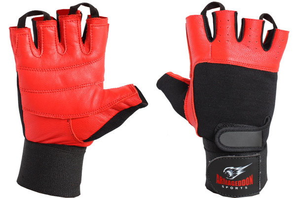 Ръкавици за Фитнес с Накитници Red LUX Armageddon Sports